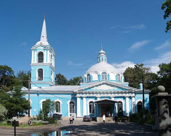 Храм во имя Смоленской иконы Божией Матери на Васильевском острове г. Санкт-Петербурга.